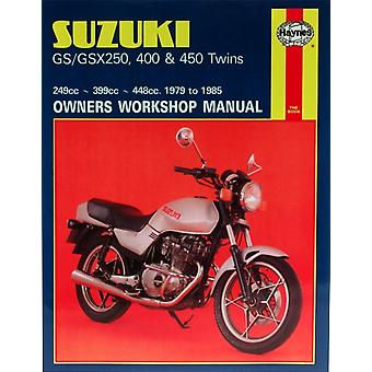 Suzuki GS and GSX 250 400 and 450 Twins Owners Workshop Manual (Motorcycle Manuals) (Paperback) by Rogers Chris Shoemark Pete