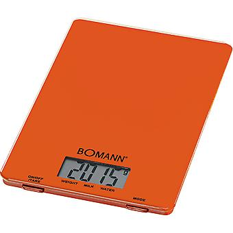 Bomann Balanza Digital Kw 1515 Naranja (Home , Kitchen , Kitchen tools , Kitchen scale)