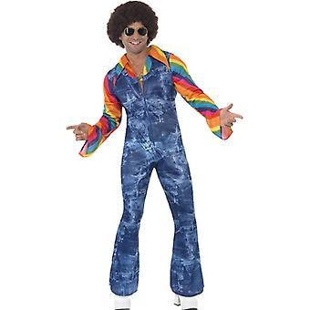 Costume ballerino Groovy per discoteca maschile anni ' 70