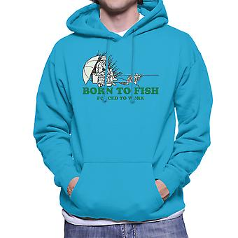 Born To Fish Forced To Work Men's Hooded Sweatshirt