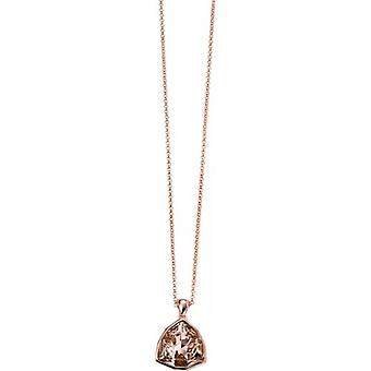 Elements Silver Rose Gold Plated Shield Pendant - Rose Gold