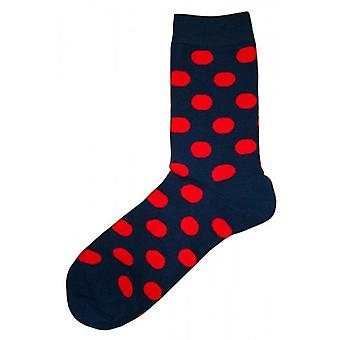 Bassin e Brown Spotted calzini - Navy/Red