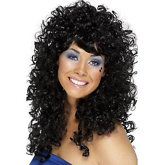 Smiffys Boogie Babe Wig Black Long Curly (Costumes)
