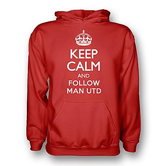 Keep Calm And Follow Man Utd Hoody (red)