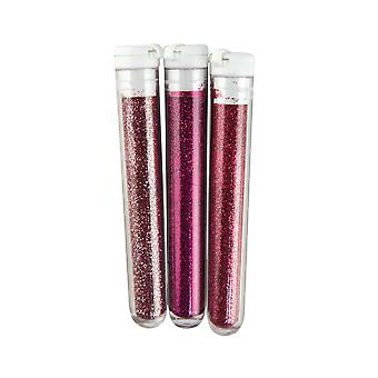 Shades of Pink - 3 Pack Fine Glitter for Crafts | Craft Glitter