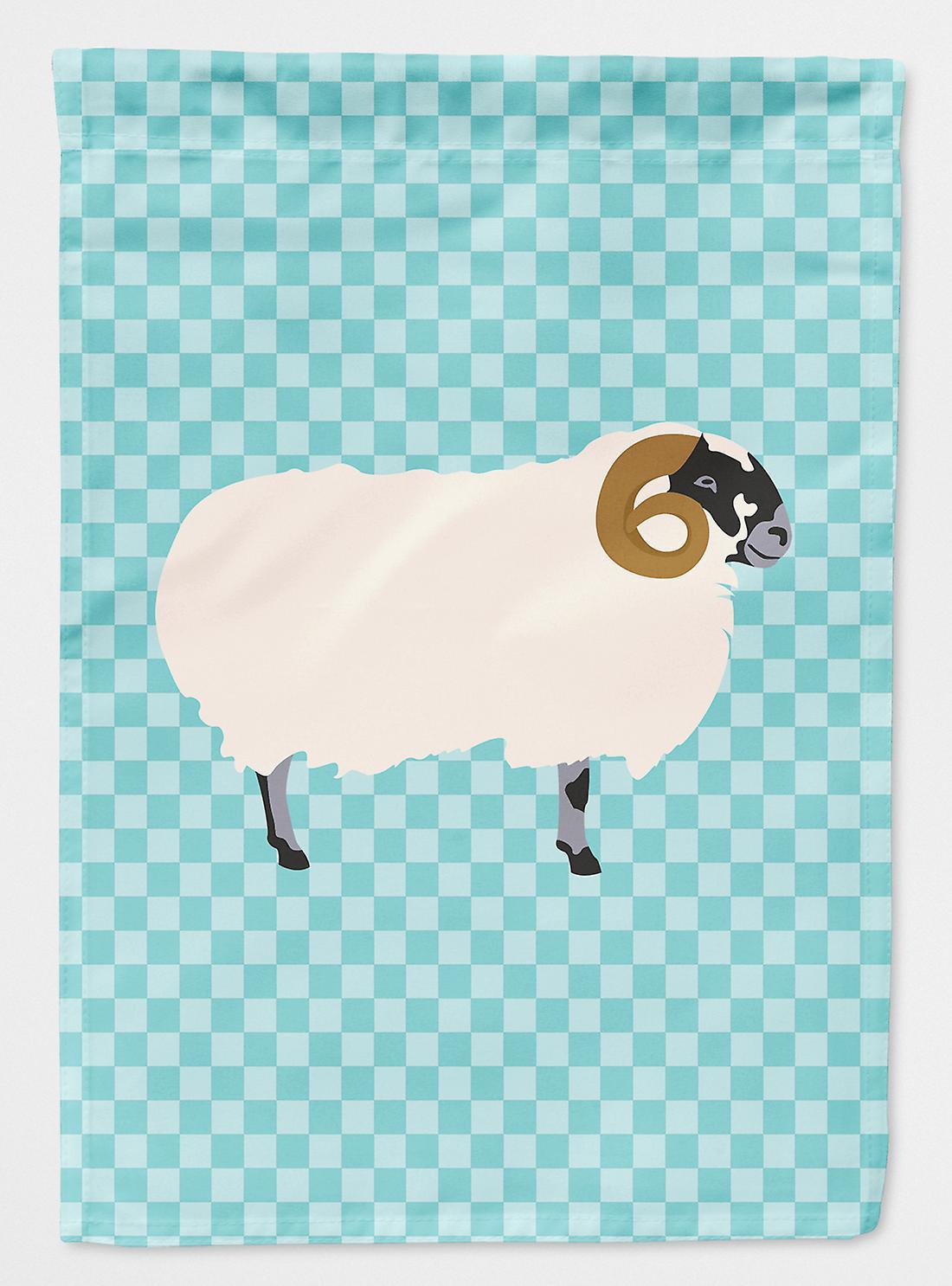 Scottish noirface mouton bleu Check drapeau Taille maison du canevas