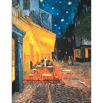 Cafe Terrace at Night Poster Print by Vincent van Gogh (24 x 32)