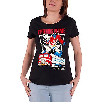 Transformers T Shirt Optimus Prime Distressed new Official Womens Skinny Fit