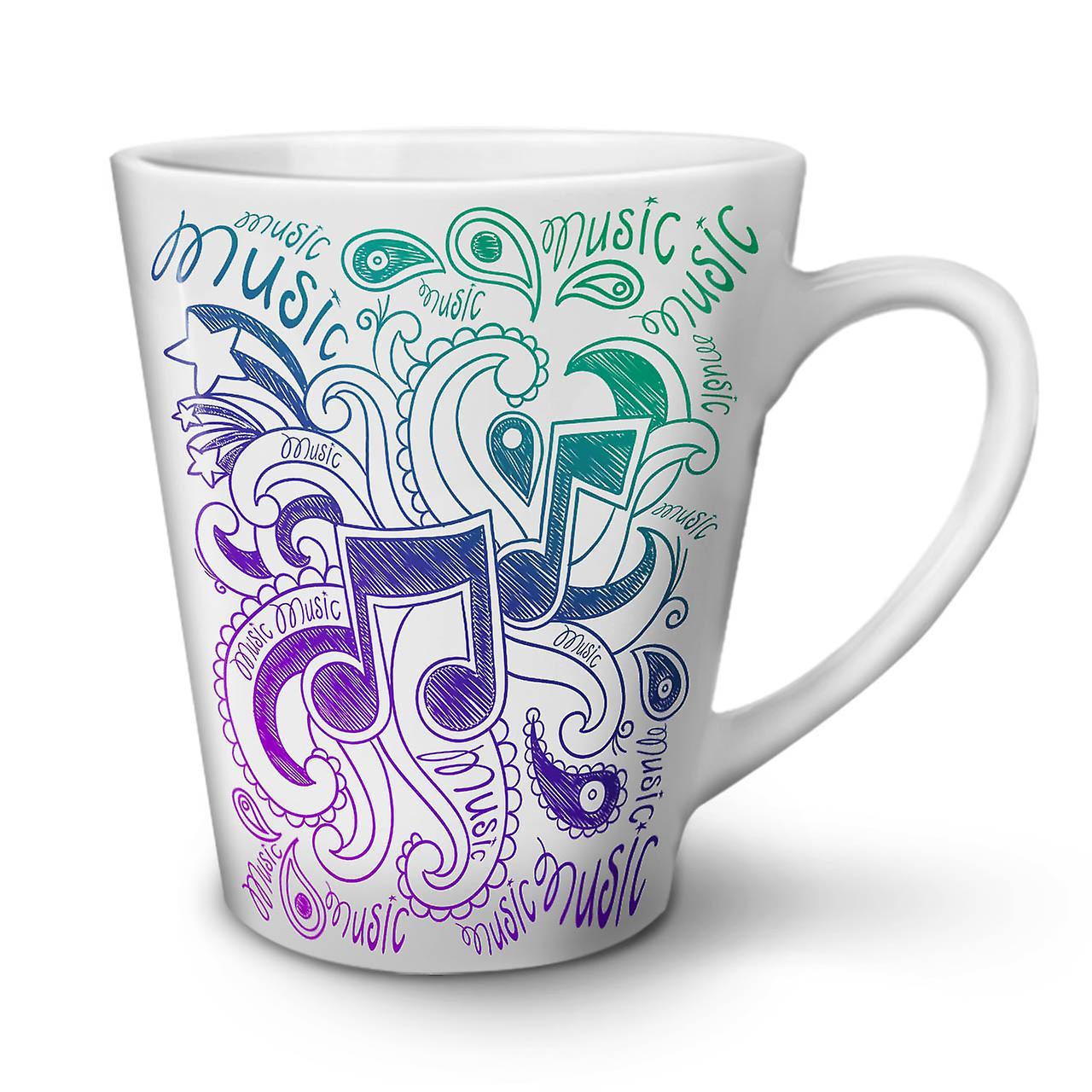 Nouvelle Café Céramique En Latte Ornement Blanche Musical Tasse 12 OzWellcoda mN08nwvO