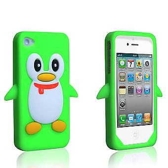 YouSave Accessories iPhone 4 / 4S Silicone Penguin Case - Green