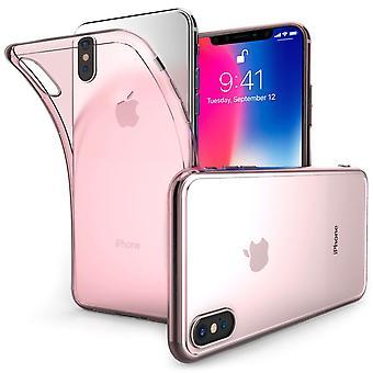 IPhone X Ultra tunn silikon Gel-rosa
