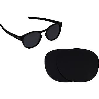 Latch Replacement Lenses Polarized Black by SEEK fits OAKLEY Sunglasses