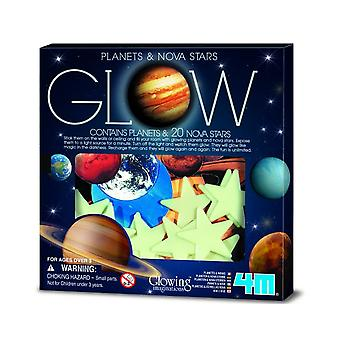 Glow In The Dark Planets and 20 Nova Stars | Outer Space Crafts