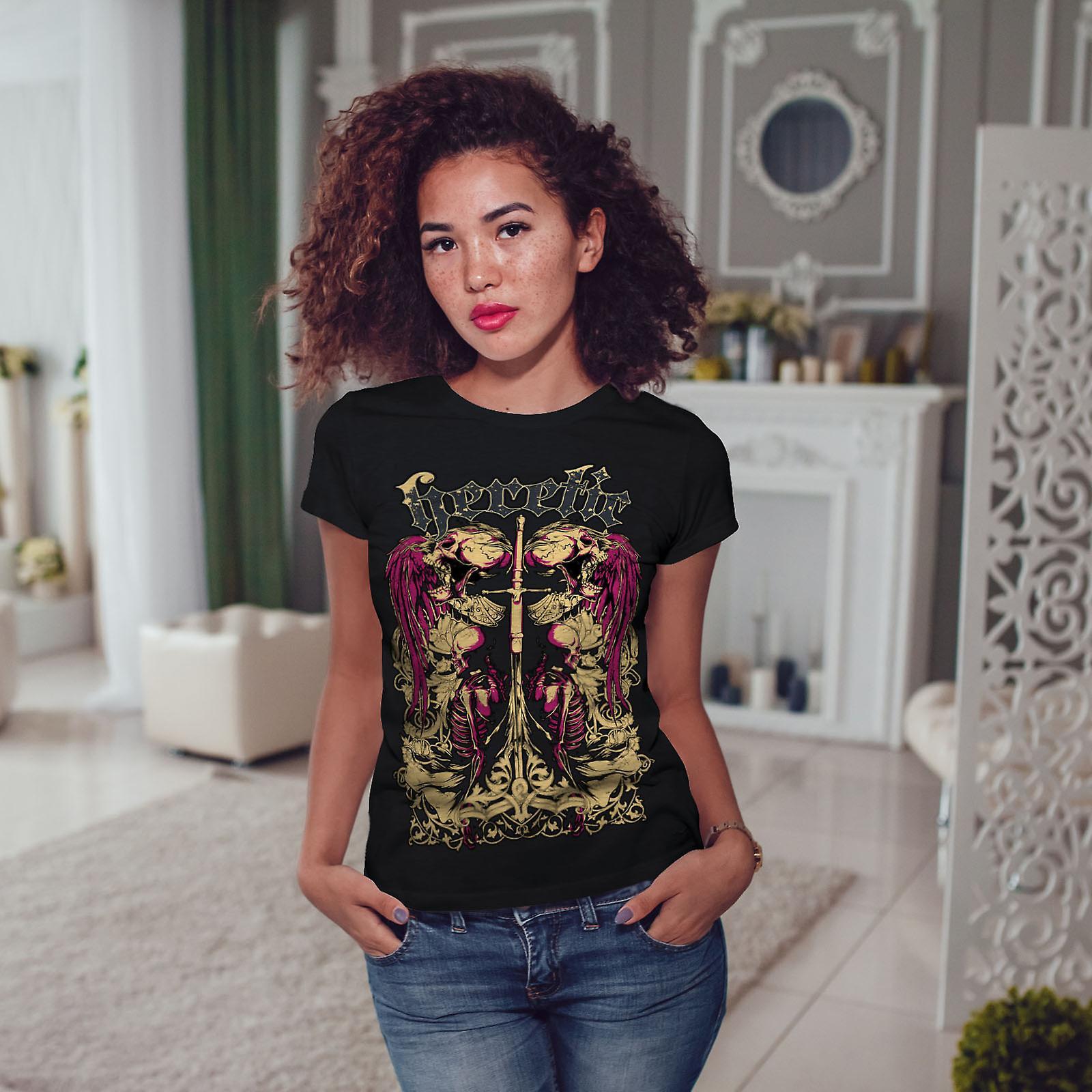 Ketzerische Tote Engel Horror Frauen T-shirt schwarz | Wellcoda