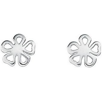 Beginnings Small Organic Flower Stud Earrings - Silver