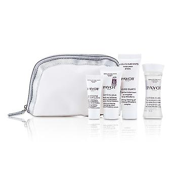 Payot Absolute zuivere witte Kit: Lotion 30ml + Mousse Clarte 25ml + Clarte Du Jour 15ml + Concentre Anti-soif Clarte 10ml 4-pack