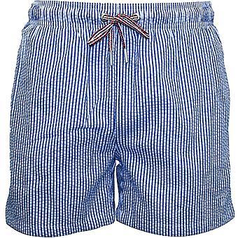 Gant Seersucker Classic Swim Shorts, Yale Blue