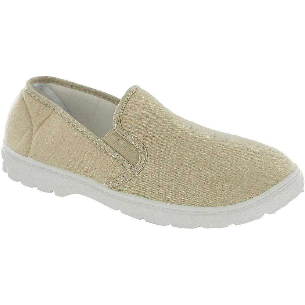 Mirak Mens Tommy Slip On Lightweight Canvas Summer Casual Loafer White