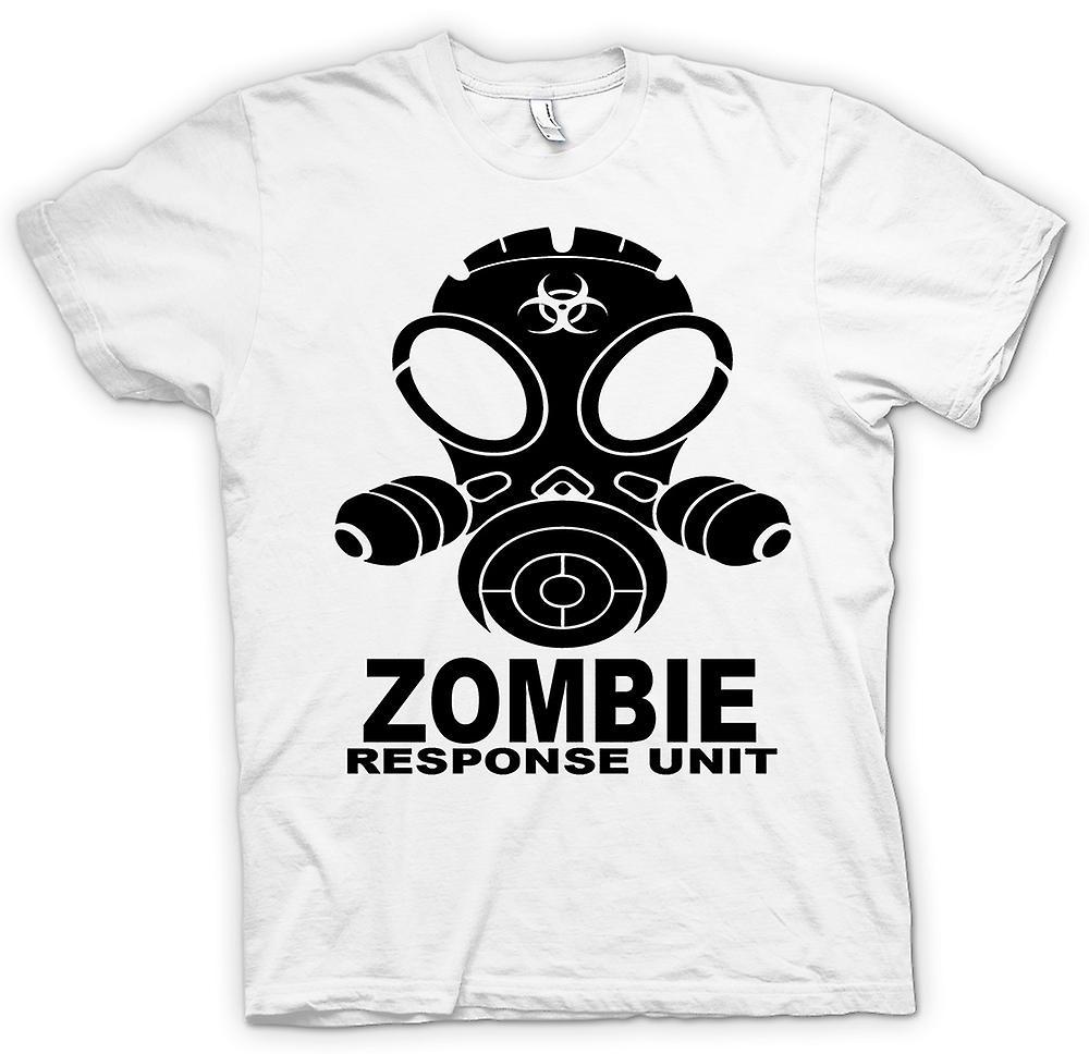 Womens T-shirt - Zombie Response Unit - Gasmask