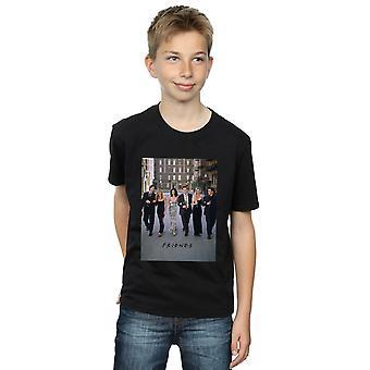 Vänner pojkar Champagne och blommor T-Shirt
