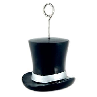 Globo peso/porta sombrero de Copa negro y plata