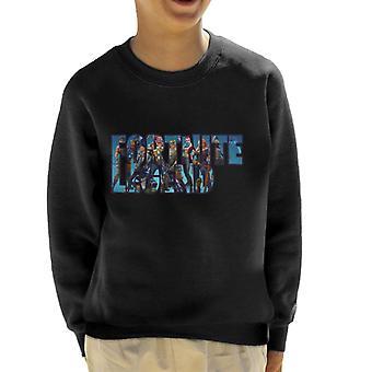 Fortnite legende tekst Montage barneklubb Sweatshirt