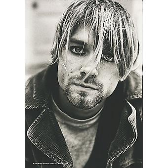 Kurt Cobain Nirvana Close Up Large Fabric Poster/ Flag 1100Mm X 750Mm