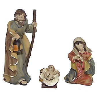 Nativity crib figures 3 piece 11 cm for Nativity Holy Family