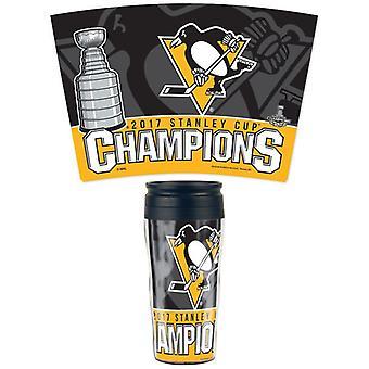 WinCraft 2017 taza de Stanley campeones Pittsburgh Penguins 16 oz. Contorno de la taza