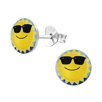 Sun - Epoxy Colour + 925 Sterling Silver Colourful Ear Studs
