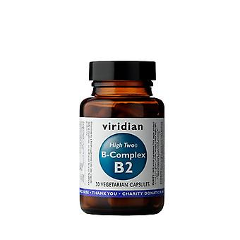 Viridian HIGH TWO Vitamin B2 with B-Complex , 30 Veg Caps