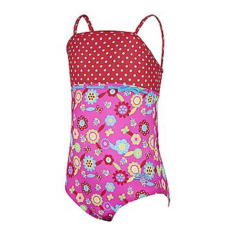 Zoggs Flora Classic Back Swimsuit Pink/Multi