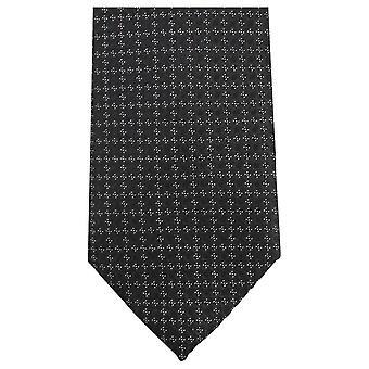 Pequeño lazo Floral corbatas de Knightsbridge - negro