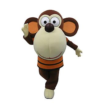 mascot monkey Brown and white, with a big head SPOTSOUND