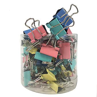 TRIXES 60 PC Pack of Metal Foldback Coloured Binder Clips 15MM