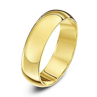 Star Wedding Rings 18ct Yellow Gold Heavy D 5mm Wedding Ring