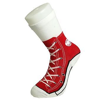 Tobar Red Sneaker Socks