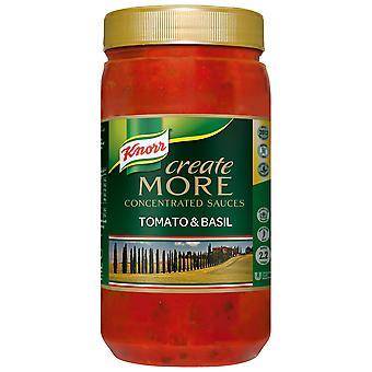Knorr Tomaten & Basilikum erstellen konzentrierter Sauce