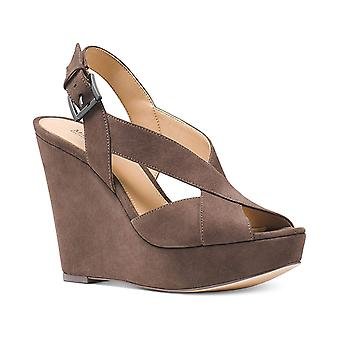 Michael Michael Kors Womens Becky Wedge Open Toe Casual Ankle Strap Sandals