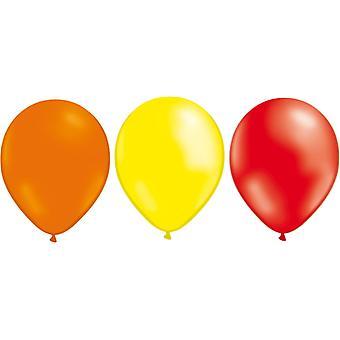 Ballons mélangent 24-pack jaune/orange/rouge