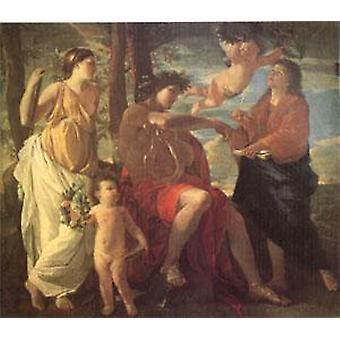 The Inspiration of the Poet, Nicolas Poussin, 60x50cm