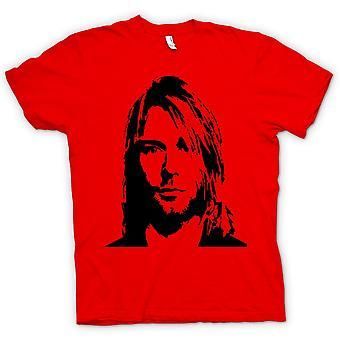 Mens T-shirt - Nirvana - Kurt Cobain - Schets