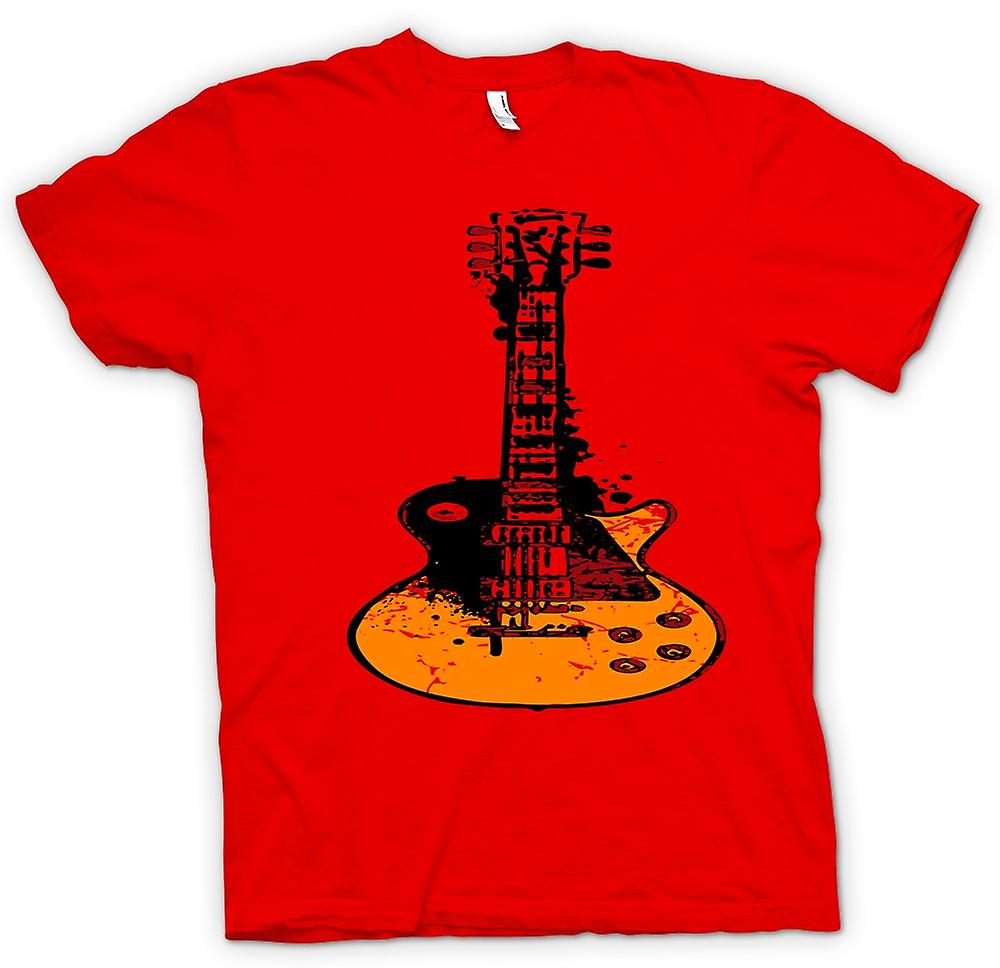 Herr T-shirt - Gibson Les Paul gitarr Rock Blues - musik