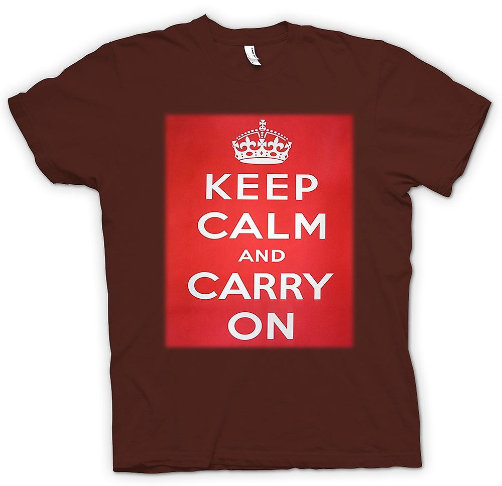 Mens t-shirt - Keep Calm And Carry On