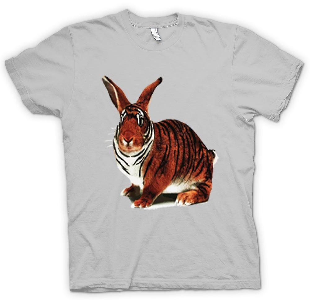 Mens t-skjorte-Tiger Rabbit Pop Art Design