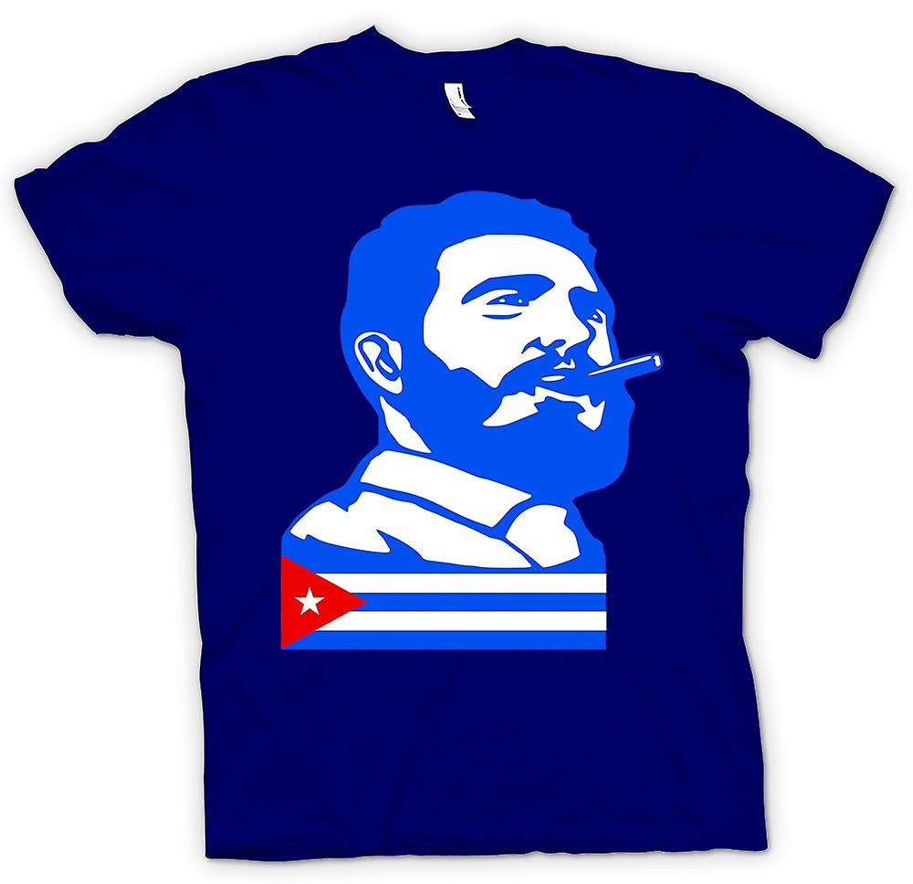 Heren T-shirt - Fidel Castro - Cuba