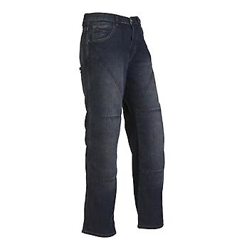 Hornee Bruised Wash Blue SA-M3 Relax Fit Short Motorcycle Jeans