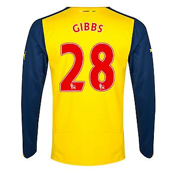 2014-15 Arsenal Long Sleeve Away Shirt (Gibbs 28)