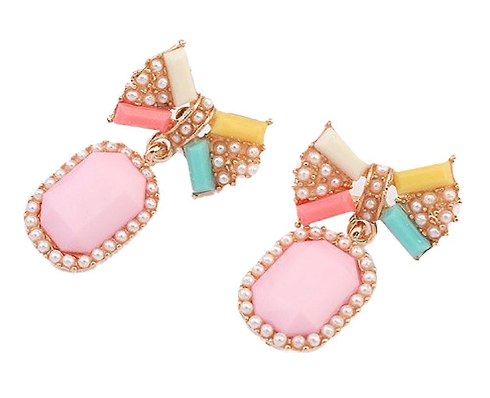 Waooh - Earrings with strap-shaped node Baca?
