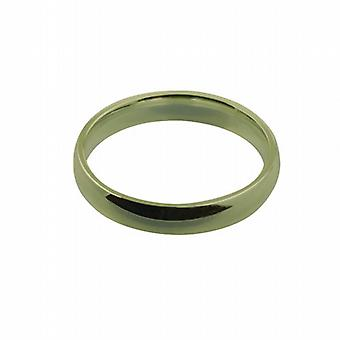 18ct Gold 4mm plain Court shaped Wedding Ring Size Q